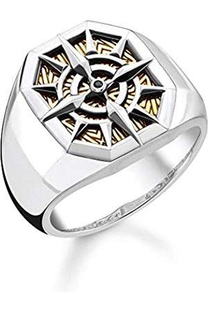 Thomas Sabo Thomas Sabo Unisex-Ring Kompass 925 Sterlingsilber gelbgold vergoldet TR2278-849-7-48