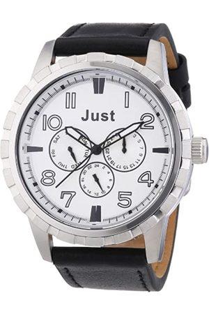 Just Watches Just Watches Herren-Armbanduhr XL Analog Quarz Leder 48-S4997SL-BK