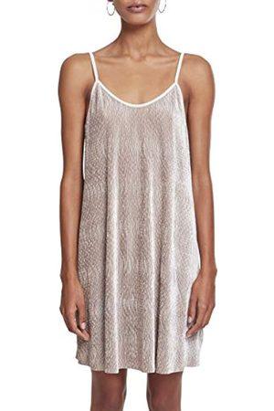 Urban classics Damen Kleid Ladies Velvet Slip Dress, ( 00003)