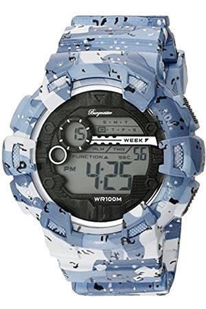 Burgmeister Burgmeister Armbanduhr für Herren mit Digital Anzeige, Chronograph mit Kunststoff Armband - Wasserdichte Herrenarmbanduhr mit zeitlosem