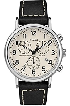 Timex Timex Herren Chronograph Quarz Uhr mit Leder Armband TW2R42800