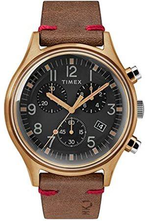 Timex Timex Herren Chronograph Quarz Uhr mit Leder Armband TW2R96300
