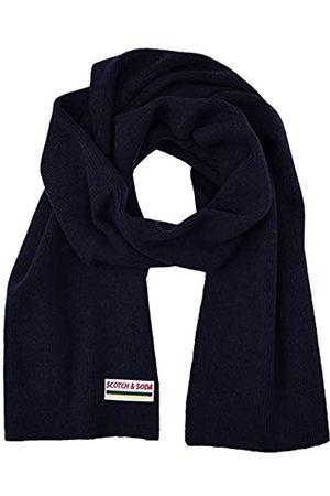 Scotch&Soda Herren Schals - Herren Classic Rib Knit Scarf in Soft Wool-Blend Quality Schal