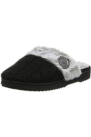 Dearfoams Dearfoams Damen Chenille Knit Clog Pantoffeln, Schwarz (Black 00001)