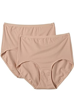 HUBER Damen Unterhose Mia Maxi Slip 2er Pack, Einfarbig, Gr. 44