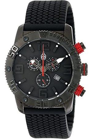 Burgmeister Burgmeister Herren-Armbanduhr XL Black Chrono Analog Quarz Silikon BM521-622E