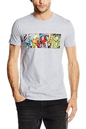 Marvel Herren Comic Strip Logo T-Shirt