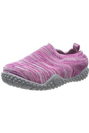 Playshoes Jungen Unisex Kinder Strick Niedrige Hausschuhe, Pink (Pink 18)