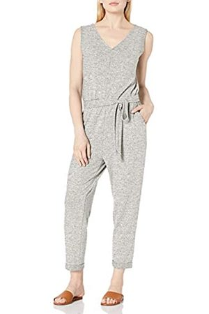 Daily Ritual Cozy Knit Sleeveless Tie-Waist jumpsuits-apparel, meliert