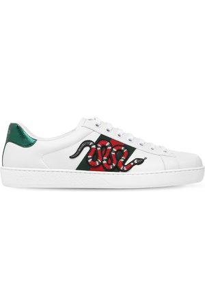 "Gucci Ldersneakers Mit Ayersleder ""snake New Ace"""