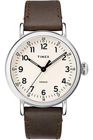 Timex Timex Herren Analoger Quarz Uhr mit Echtes Leder Armband TW2T20700
