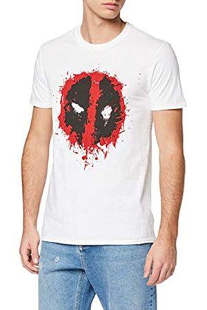 Marvel Marvel Herren Deadpool Splat Face, Weiß (White Wht) S-T-Shirt