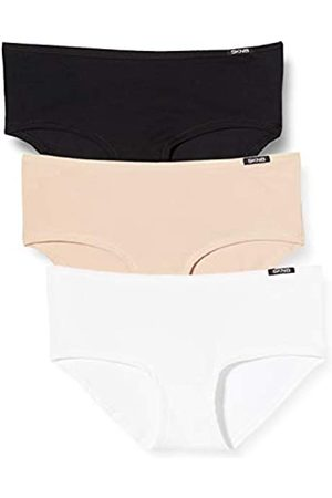 Skiny Damen Slips - Damen Advantage Cotton Panty 3er Pack Panties, Mehrfarbig (Trio Selection 2821)