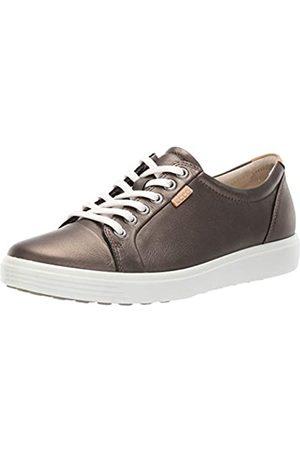Ecco Damen Soft 7 Sneaker, Mehrfarbig (Black Stone Metallic 51380)