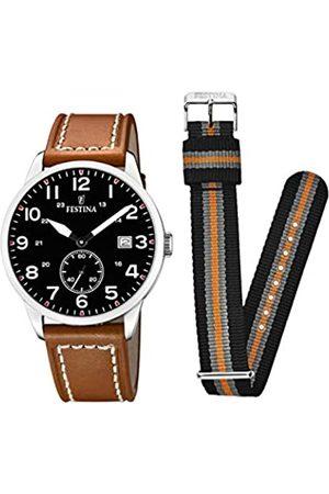 Festina Festina Herren Analog Quarz Uhr mit Leder Armband F20347/7