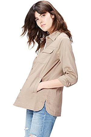FIND Amazon-Marke: Jacke Damen in Arbeitshemd-Design mit Schlitztaschen, 36