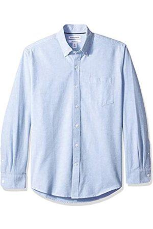 Amazon Amazon Essentials Herren-Oxford-Shirt, Langarm, reguläre Passform, unifarben