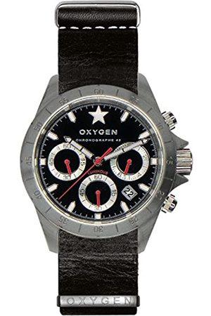 Oxygen OXYGEN unisex-Armbanduhr SPRINT 42 Chronograph Quarz Leder EX-C-SPR-42-NL-BL