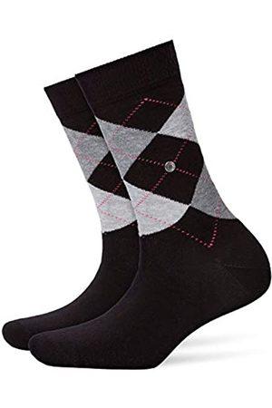 Burlington Damen Socken Queen - Baumwollmischung, 1 Paar, (Black 3000)