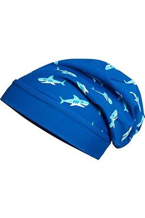 Playshoes Jungen Hüte - Jungen Mütze Beanie Hai mit UV-Schutz