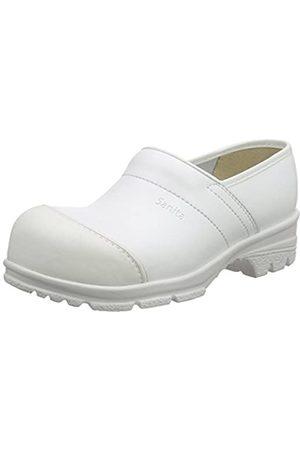 Sanita Sanita Workwear Unisex-Erwachsene San-Duty Closed-S2 Clogs, Weiß (White 1)