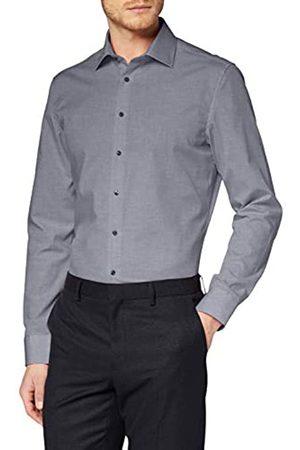 Seidensticker Herren Business - Herren Einfarbiges, Schickes Hemd Mit Extra Tragekomfort Und Kent-Kragen – Slim Fit – Langarm Businesshemd