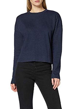 FIND Amazon-Marke: Pullover Damen mit Nadelstreifen und rundem Ausschnitt, 34
