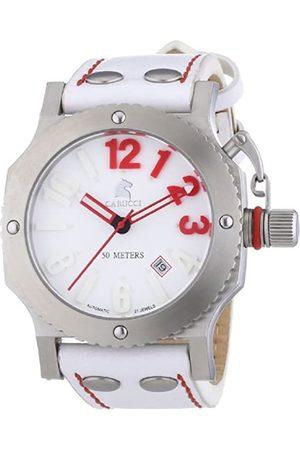 Carucci Carucci Watches Herren-Armbanduhr XL Analog Automatik Leder CA2210SL-RD