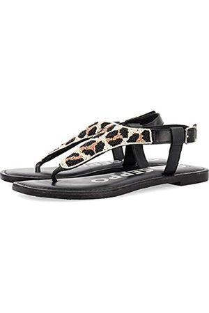 Gioseppo Damen Newfane T-Spangen Sandalen, Mehrfarbig (Leopardo Leopardo)