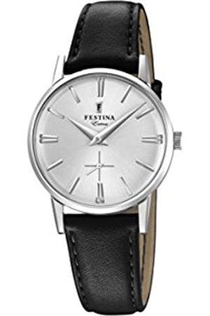 Festina Damen Analog Quarz Uhr mit Leder Armband F20254/1