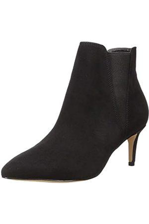 THE DROP Damen Stella Pull-on Kitten Heel Boot Stiefel, (Black)