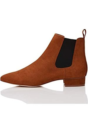 FIND Find. Simple Chelsea Boots, Braun Brown)