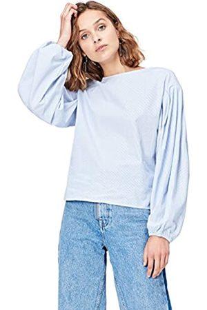FIND Amazon-Marke: Damen Langärmeliges T-Shirt mit rundem Ausschnitt, 38