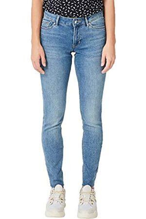 s.Oliver S.Oliver RED LABEL Damen Shape Superskinny: Jeans mit Fransen light blue 42.30