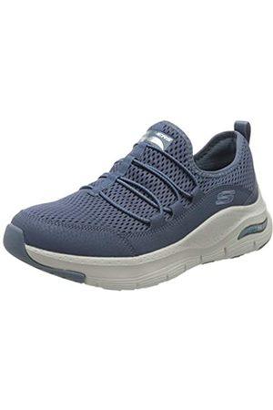 Skechers Damen Arch FIT Lucky Thoughts Sneaker, Marineblau, Netzbesatz, Marineblau