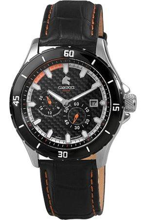 Carucci Carucci Watches Herren-Armbanduhr XL Analog Automatik Leder CA2187OR
