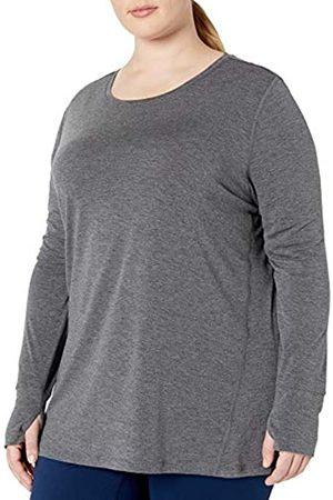 Amazon Plus Size Studio Long-Sleeve Lightweight fashion-t-shirts, Charcoal Heather