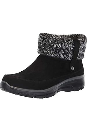 Skechers Damen Easy Going - Heighten Kurzschaft Stiefel, (Black Microfiber/Knit Blk)