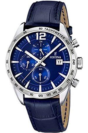 Festina Festina Herren-Armbanduhr XL Chronograph Quarz Leder F16760/3