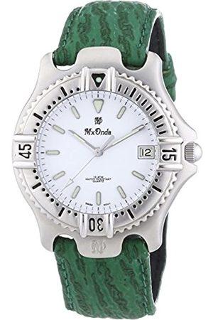 Mx Onda Mx Onda Herren-Armbanduhr XL Analog Quarz Leder 32-6200-15