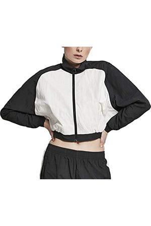 Urban classics Damen Jacken - Damen Ladies Short Raglan Crinkle Batwing Jacket Jacke