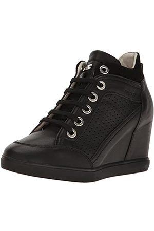 Geox Damen D Eleni C Hohe Sneaker, (Black)