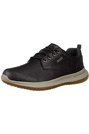 Skechers Men's DELSON-Antigo Oxfords, Black (Black Blk)