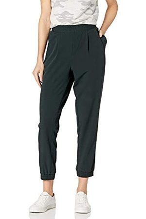 Daily Ritual Daily Ritual Fluid Stretch Woven Twill Jogger with Ribbed Cuff Pants