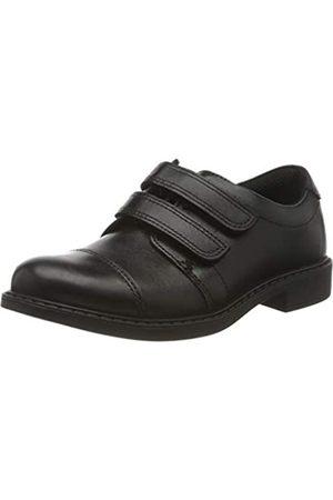 Clarks Jungen Slipper, (Black Leather Black Leather)