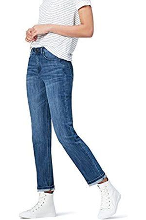 FIND Amazon-Marke: find. Damen Straight Cut-Jeans mit mittlerem Bund, 36W / 32L