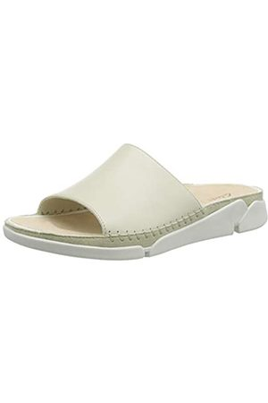 Clarks Damen Tri Slide Geschlossene Sandalenn, (White)