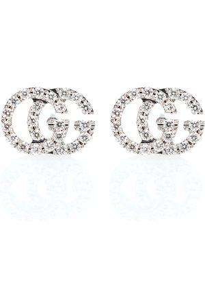 Gucci Ohrringe Running G aus 18kt Weißgold mit Diamanten