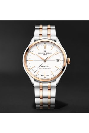 Baume & Mercier Clifton Baumatic Automatic Chronograph 40mm Stainless Steel and 18-Karat Rose Gold-Capped Watch, Ref. No. M0A10458