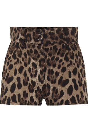 Dolce & Gabbana Bedruckte Shorts aus Baumwolle